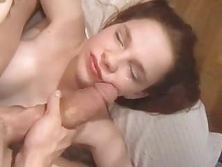 Redhead Teen takes Huge Cock