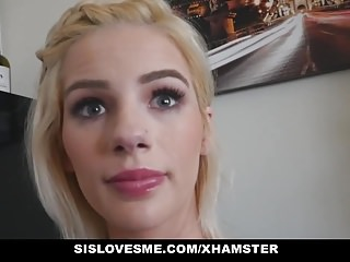 SisLovesMe - Teen Stepsis Fucked By Pervy Bro
